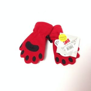 Other - Bear Hands Buddies Mittens New Toddler Red